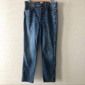 J.Crew Vintage Straight jeans exposed buttons 30T